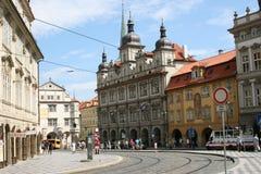 Prague historic centre  traffic Stock Images
