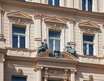 Prague, historic house with statue Stock Photography