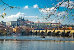 Prague historical center with the Castle, Prague, Czech Republic royalty free stock photography