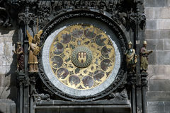 Prague - historiska Astronomical tar tid på Royaltyfria Foton