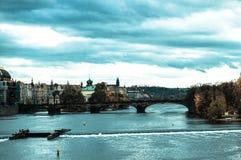 Prague horisont Arkivbild