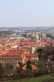 prague horisont Royaltyfria Bilder