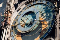 Prague hours. Fragment of an astronomical clock in Prague on the Old City square royalty free stock images