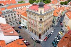 Prague houses. Royalty Free Stock Photo
