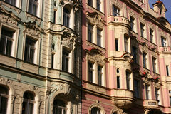 Prague houses Royalty Free Stock Photo