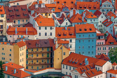 Prague Houses and Rooftops Royalty Free Stock Images