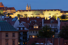 Prague - Hradcany Castle At Dusk Royalty Free Stock Image