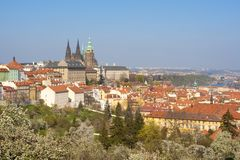Prague - Hradcany Castle and St. Vitus Cathedral Stock Photos