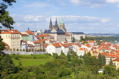 Prague - Hradcany Castle and St. Vitus Cathedral Stock Photo