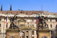 Prague Hradshin gate Stock Photo