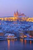 Prague i afton Fotografering för Bildbyråer