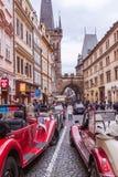 Prague i december Arkivbild