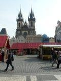 Prague i den Staromestke namestien Royaltyfri Bild
