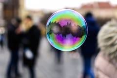 Prague i en bubbla Royaltyfri Bild