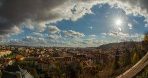 Prague i höst Arkivfoto