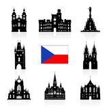 Prague, icône de voyage de République Tchèque Images libres de droits