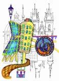 Prague illustration royaltyfri illustrationer