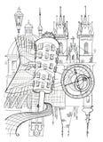 Prague Illustration Royalty Free Stock Photography