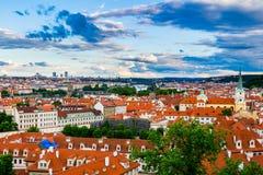 Prague. Image of Prague, capital city of Czech Republic, during beautiful sunset. Stock Photo