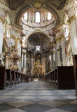 Prague - intérieur d'église baroque de rue Nichola Photos libres de droits