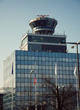 Prague international airport Stock Photos