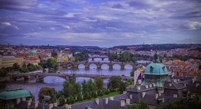 Prague and its bridges Royalty Free Stock Images
