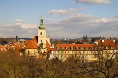 Prague and its red roofs, hidden streets and old houses Stock Image