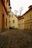 Prague and its red roofs, hidden streets and old houses Royalty Free Stock Photo