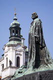 Prague - Jan Hus landmark Stock Photos