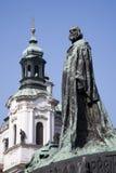 Prague - Jan Hus landmark Stock Photos