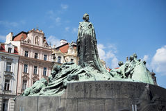 Prague. Jan Hus Memorial Royaltyfri Fotografi