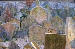 Prague judisk kyrkogård Royaltyfri Fotografi
