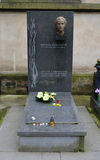 PRAGUE - JUN 19: Last resting place of Milada Horakova Stock Image