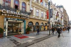 Prague köpcentrum Cerna Ruze Arkivfoto