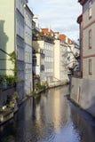Prague kanal royaltyfria bilder