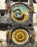 Prague klocka Royaltyfri Bild