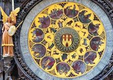 Prague klocka Royaltyfri Foto