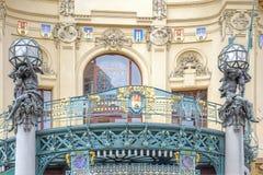 Prague Kommunalt hus Arkivfoton