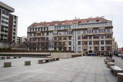 Prague kubismarkitektur Arkivbild