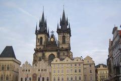 Prague kvadrerar gammala Town Royaltyfria Foton