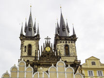 Prague kyrka Royaltyfria Foton