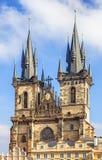 Prague kyrklig tjeckisk lady vår prague republiktyn Royaltyfri Foto