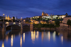 Prague la nuit. Photos libres de droits