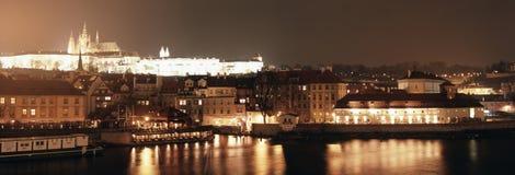 Prague la nuit Photo stock