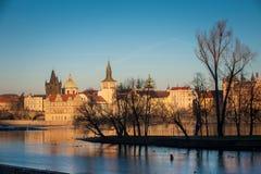 Prague landskap Royaltyfri Fotografi
