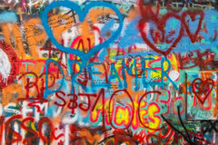 Prague - Lennon Wall royalty free stock photography