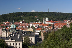 Prague - Lesser Town and Petrin Hill Royalty Free Stock Photos