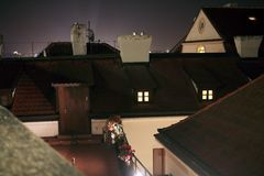 Prague Lesser Town Roofs Royalty Free Stock Photography