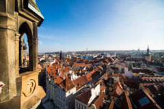 Prague like a point of turistic destinations Royalty Free Stock Photo