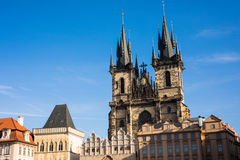 Prague like a point of turistic destinations Royalty Free Stock Photos